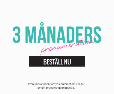 text: 3 månaders abonnemang för Beauty Box