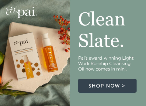 Clean Sate - Pai's award-winning Light Work Rosehip Cleansing Oil now comes in mini.