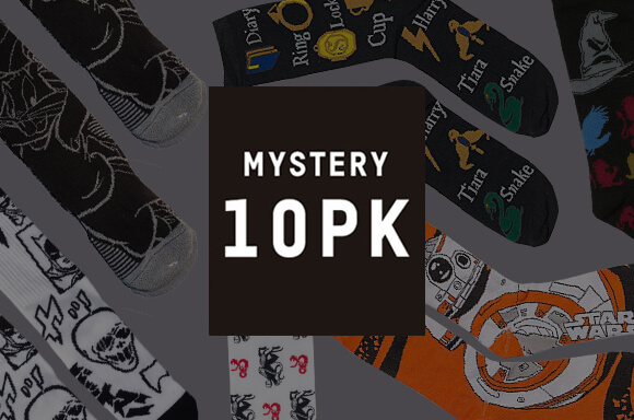 Mystery Geek Socks - 10 Pack