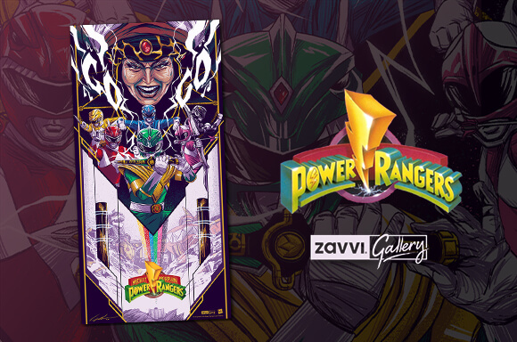 Hasbro Power Rangers 12x24 inch Giclee By Jaren Hemphill