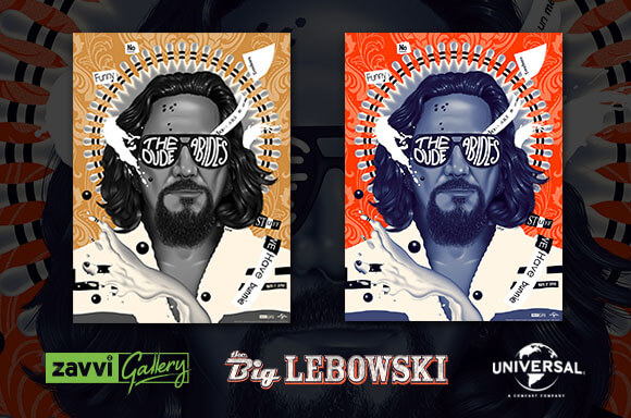 THE BIG LEBOWSKI ZAVVI EXKLUSIVE SCREENPRINTS