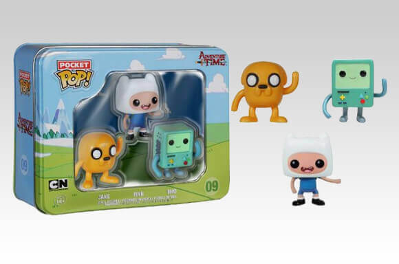 ADVENTURE TIME POCKET MINI POP! VINYL 3 PACK TIN