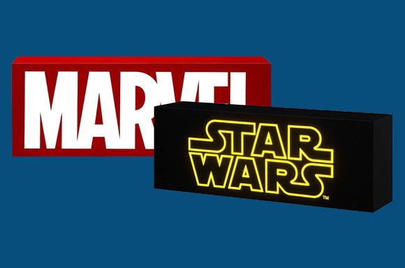 10% off Marvel & Star Wars Logo Light Boxes
