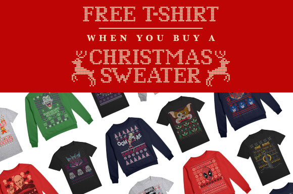 FREE T-SHIRT WITH ANY CHRISTMAS JUMPERS