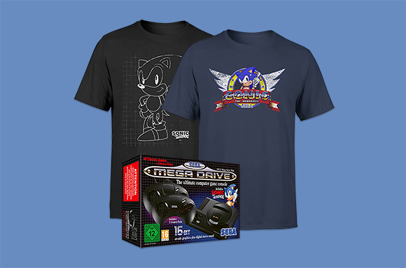FREE SONIC T-SHIRT WITH A SEGA MEGA DRIVE MINI