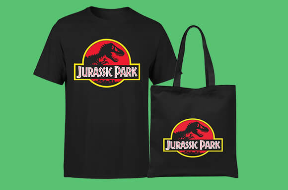 JURASSIC PARK T-SHIRT & TOTE BAG ONLY £8.99