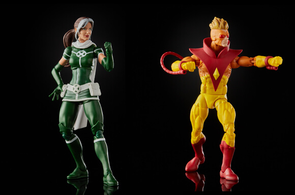 Hasbro Marvel Legends X-Men Rogue and Pyro Action Figures 2 Pack