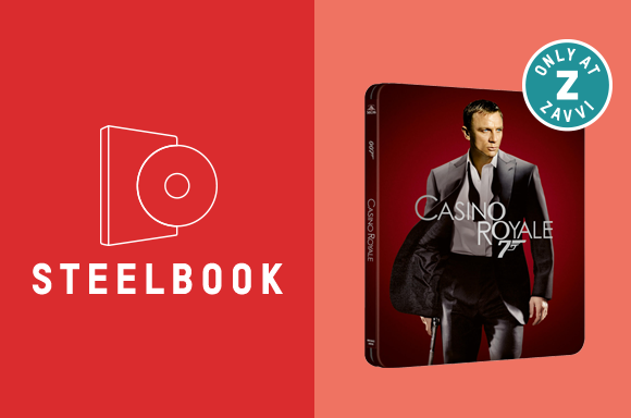 JAMES BOND CASINO ROYALE <BR> 4K ULTRA HD & BLU-RAY STEELBOOK