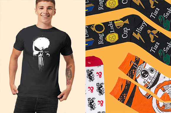 FREE MYSTERY 3-PACK SOCKS WITH T-SHIRT
