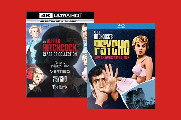ALFRED HITCHCOCK CLASSICS COLLECTION 4K UHD BOXSET + PSYCHO BLU-RAY