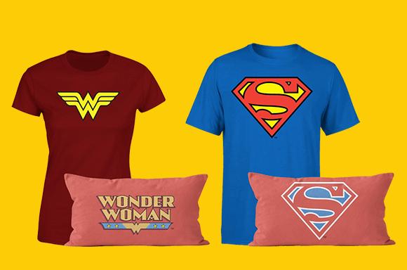 DC T T-Shirt & Cushion Bundles