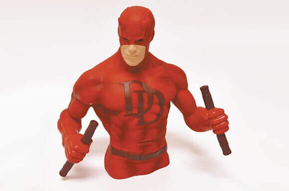 FREE DAREDEVIL BUST BANK WITH FUNKO MARVEL TEE