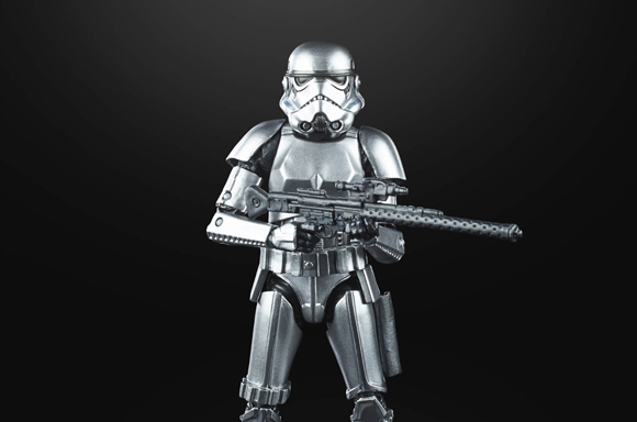 Hasbro Star Wars The Black Series Carbonized Metallic Stormtrooper Action Figure