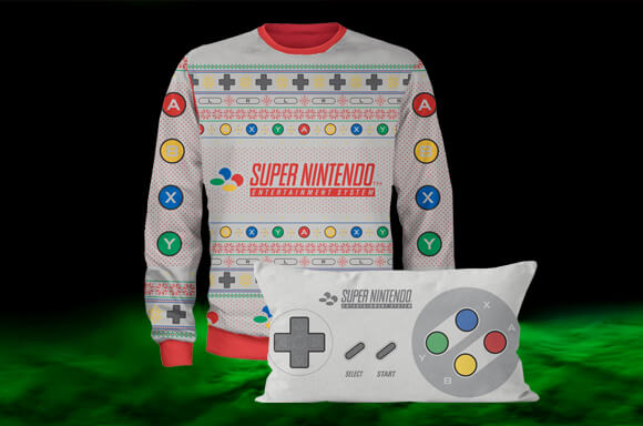 SNES CHRISTMAS JUMPER & CUSHION FOR £29.99
