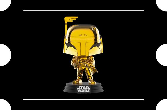 Figurine SW19 EXC Pop! Vinyl Star Wars Boba Fett Gold Chrome