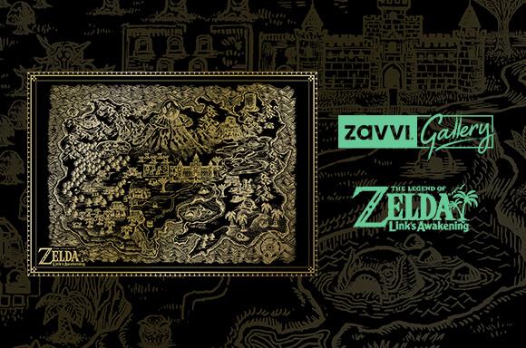 ZELDA LINK'S AWAKENING <BR>SÉRIGRAPHIE & T-SHIRT