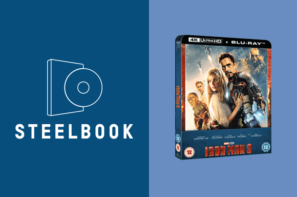 LOT STEELBOOK IRON MAN 3 4K