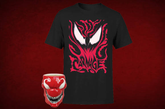 LOT CARNAGE T-SHIRT + TASSE !