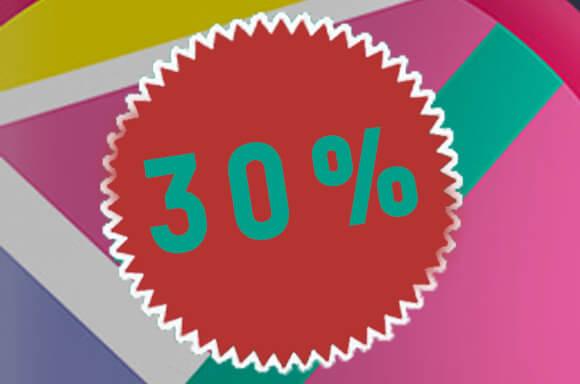 30% SUR LE MERCHANDISING