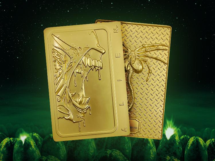 Alien 24k Gold Plated Xenomorph Limited Edition Ingot - Zavvi Exclusive