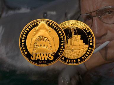 Jaws Verzamelmunt: Gouden Variant - Zavvi Exclusive