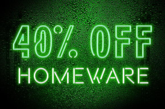 40% off Homeware