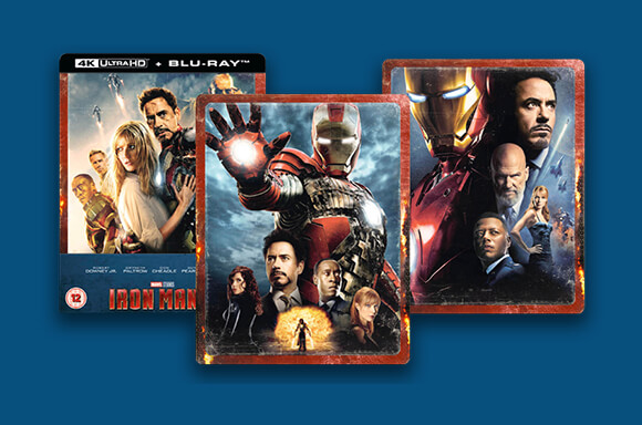 IRON MAN 4K STEELBOOKS<br>ZAVVI EXCLUSIVE