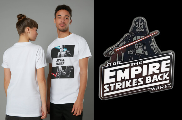 STAR WARS AR PIN BADGE & T-SHIRT
