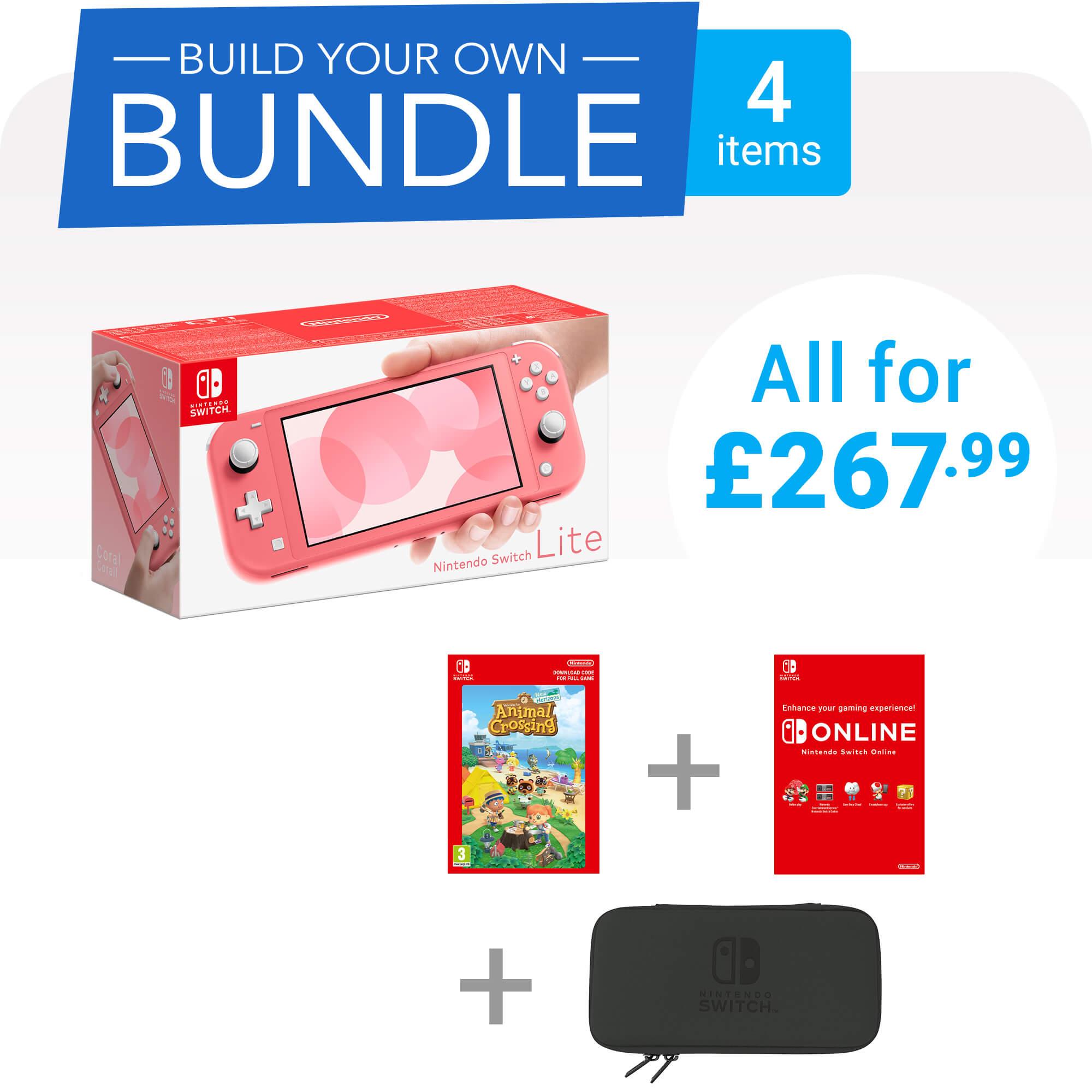 Build Your Own Nintendo Switch Lite Bundle - 4 items - £267.99