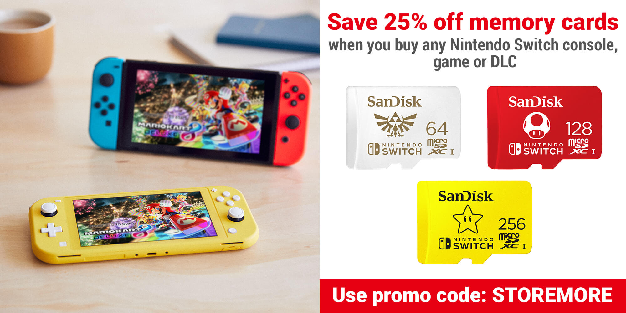 Save 25% off memory cards