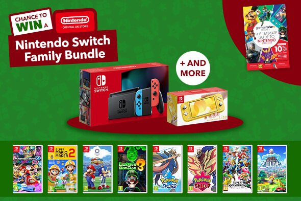 Chance to win a Nintendo Switch Family Bundle