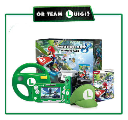 Mario Kart 8 Wii U Bundle. Luigi