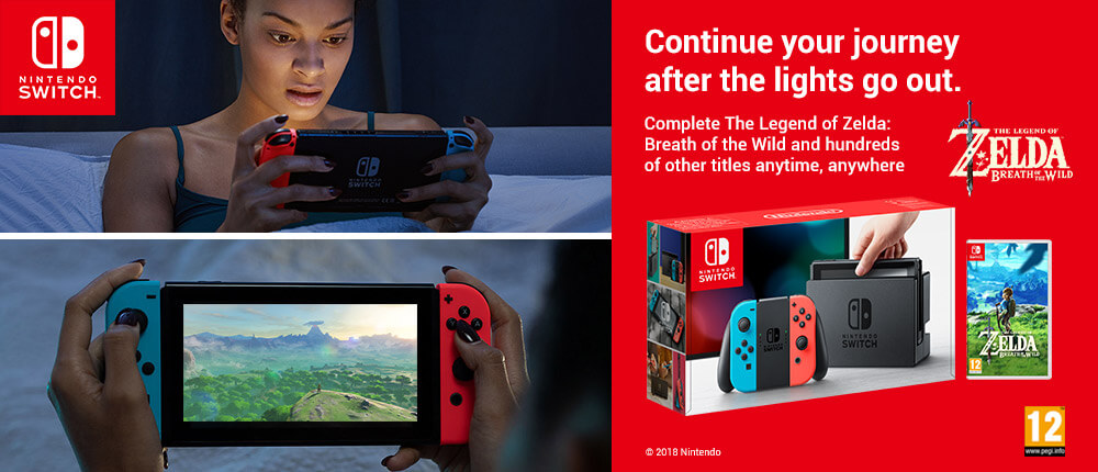Continue your journey after the lights go out. Complete The Legend of Zelda: Breath of the Wild and hundreds of other titles anytime, anywhere.