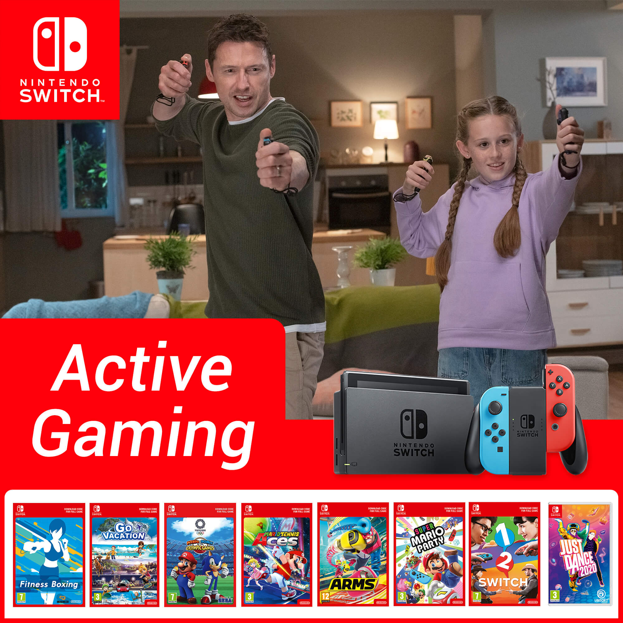 Active Gaming with Nintendo Switch