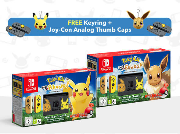 <b>Nintendo Switch Pokémon: Let's Go, Pikachu! and Eevee! Editions