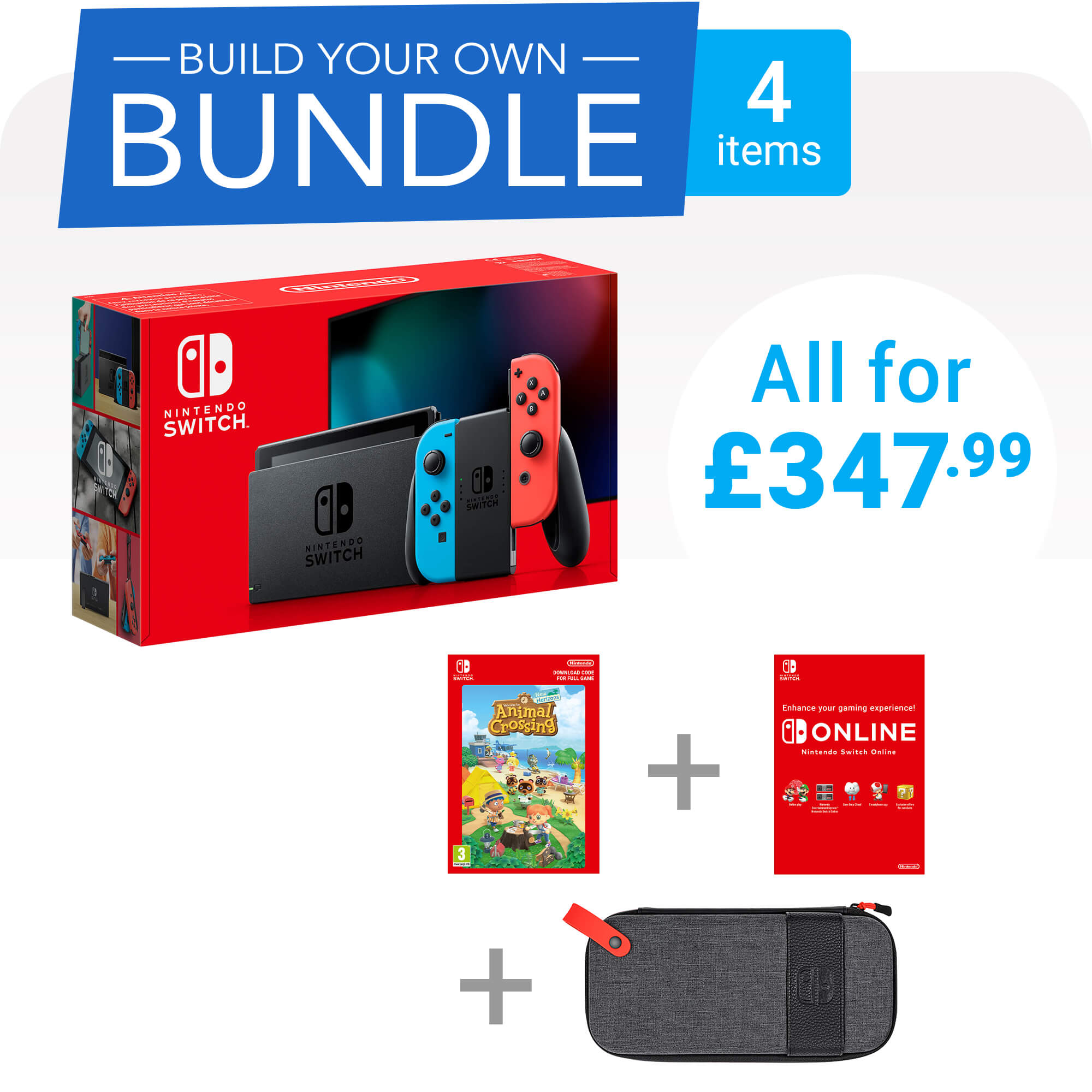 Build your own Nintendo Switch bundle for only £347.99