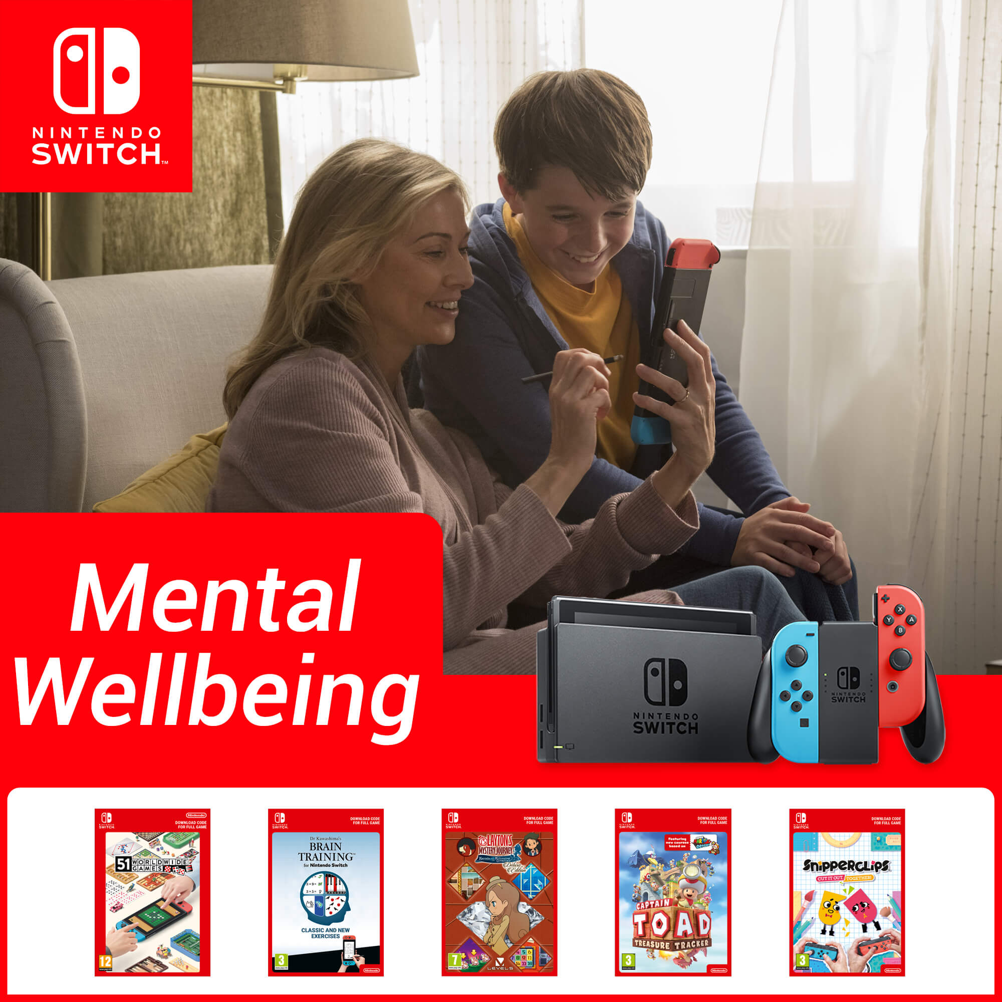 Mental Wellbeing with Nintendo Switch
